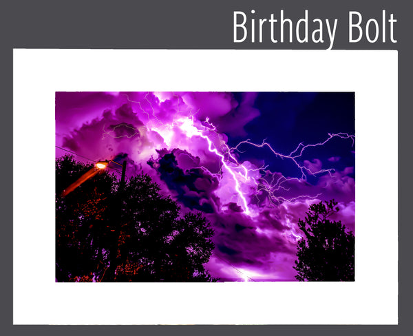 """Birthday Bolt"" Matted Print"