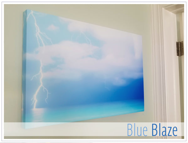 """Blue Blaze"" - Original photo on Canvas"