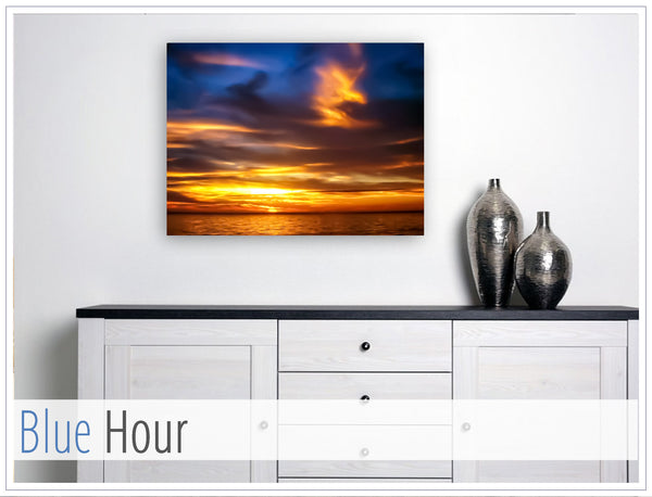 """Blue Hour"" - Original photo on Canvas"
