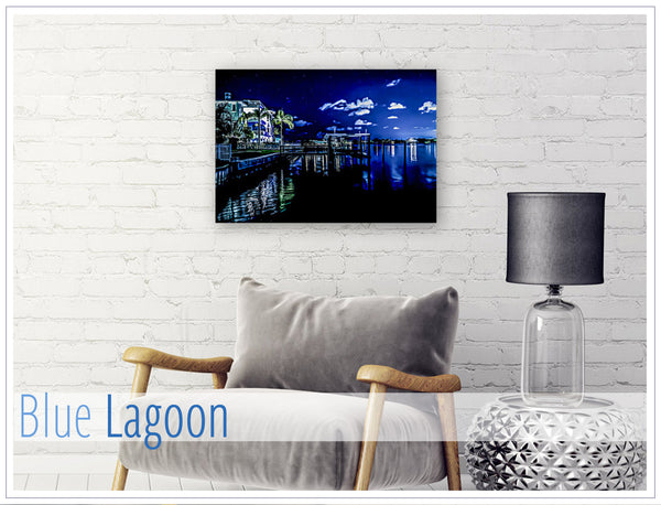 """Blue Lagoon"" - Original photo on Canvas"