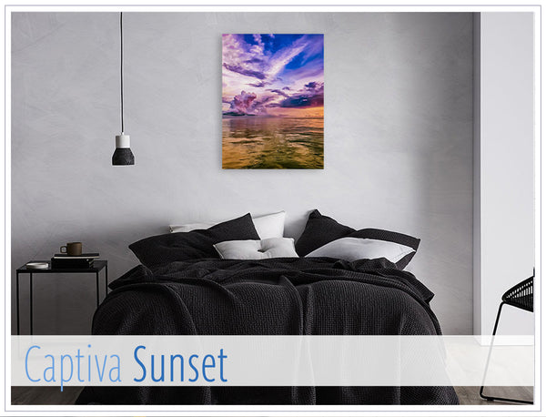 """Captiva Sunset"" - Original photo on Canvas"