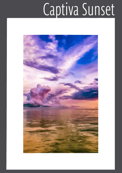 """Captiva Sunset"" Matted Print"