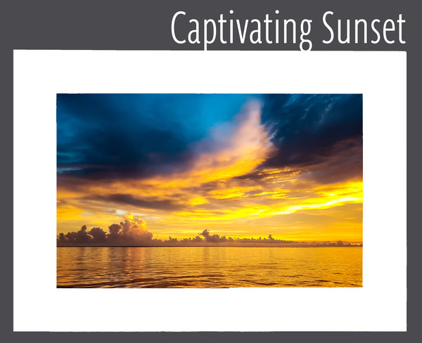 """Captivating Sunset"" Matted Print"