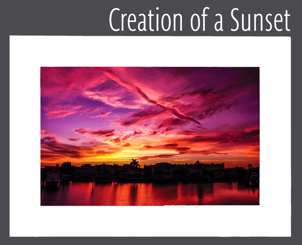 """Creation of a Sunset"" Matted Print"