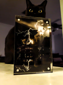"Acrylic Picture Frame (4x6) - ""Electric Embrace"""