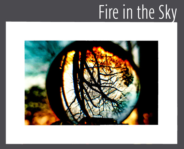 """Fire in the Sky"" Matted Print"
