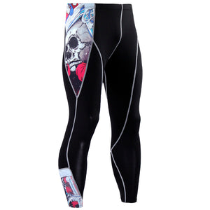 Mens 3D Compression Leggings