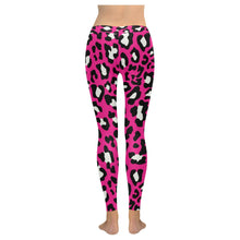 Load image into Gallery viewer, Womens Pink Leopard Print leggings