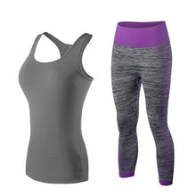 Load image into Gallery viewer, Womens 2 Piece Yoga Sports Set