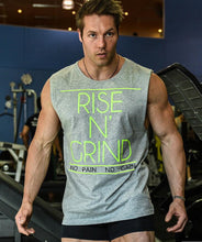 Load image into Gallery viewer, Mens Rise N Grind Fitness Tank Top