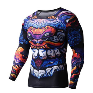 Men's Dragon Style Fitness Compression Shirt T-Shirts Fit Gear Online Fit Gear Online Free Shipping Free Shipping