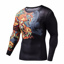 Load image into Gallery viewer, Men's Dragon Style Fitness Compression Shirt T-Shirts Fit Gear Online Fit Gear Online Free Shipping Free Shipping