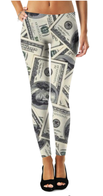 Money Pattern Leggings