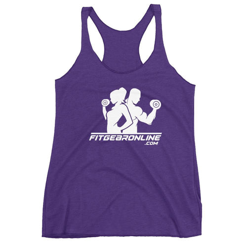 Women's Fit Gear Online Racerback Purple Tank