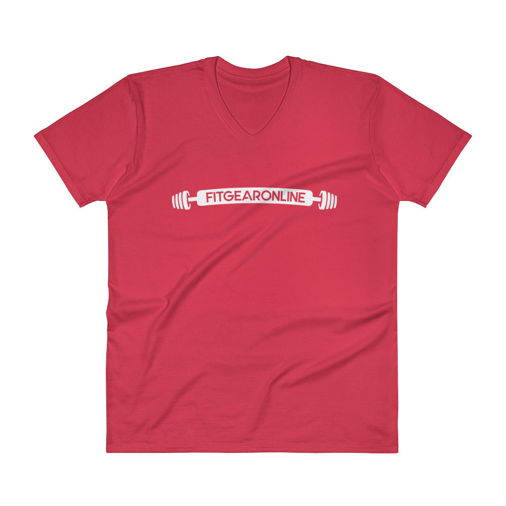 Fit Gear Online Classic Red V-Neck T-Shirt