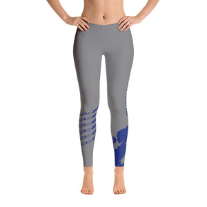 Fit Gear Online Gray Blue Leggings