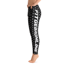Load image into Gallery viewer, Fit Gear Online Black White Leggings