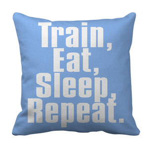 Limited Edition - Train,Eat,Sleep, Repeat Pillow Cases slingly fitness, pillow Fit Gear Online Free Shipping Free Shipping