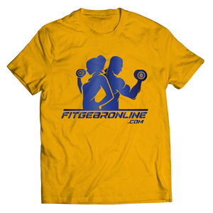 Fit Gear Online Gold Tshirt Unisex Shirt slingly Fit Gear Online Free Shipping Free Shipping