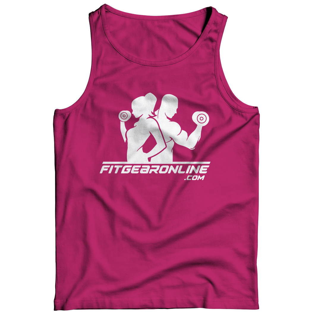 Pink Fit Gear Online Tank Top