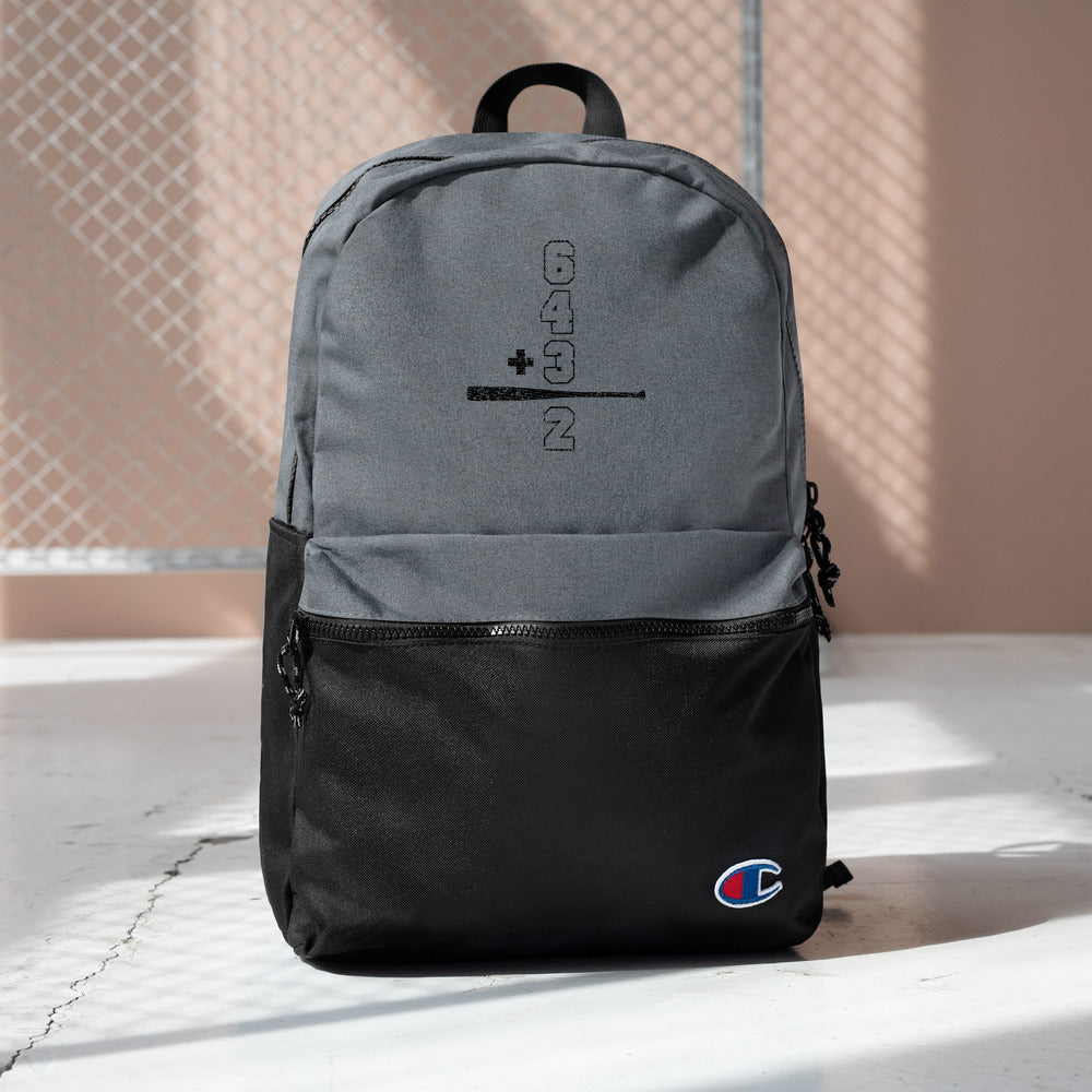 Double Play Math Embroidered Champion Backpack