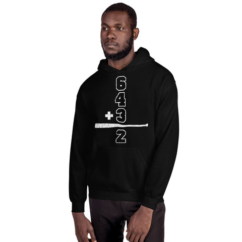 Baseball Math Double Play Mens Hoodie