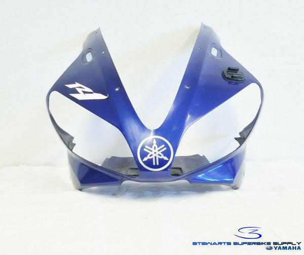 1999 YAMAHA YZF R1 OEM BLUE FRONT FAIRING COWLING YZF-R1 98 99 HEADLIGHT COVER