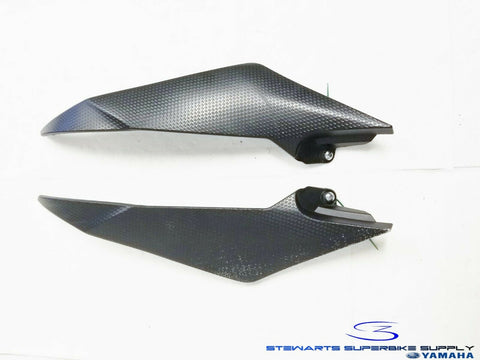 2008 - 2016 YAMAHA YZF R6 OEM LEFT RIGHT FUEL TANK SIDE COVERS ASSY 1 2 08 12 16