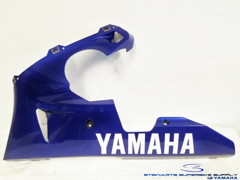 2000 - 2001 YAMAHA YZF R1 OEM BLUE LEFT LOWER FAIRING UNDER COWL 00 01 COWLING 3