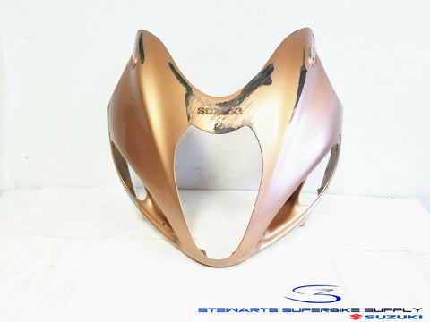 99 - 07 SUZUKI GSX1300R HAYABUSA OEM FRONT ORANGE GOLD FAIRING HEADLIGHT COWL