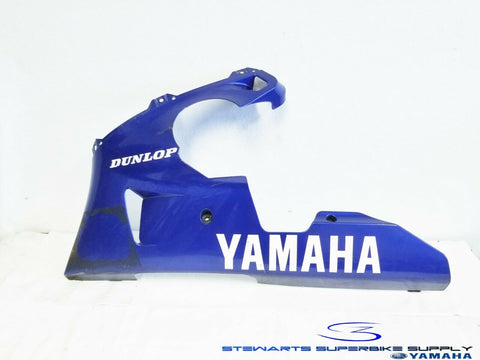2000 - 2001 YAMAHA YZF R1 OEM BLUE LEFT LOWER FAIRING UNDER COWL 00 01 COWLING 4