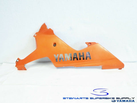 2002 - 2003 YAMAHA YZF R1 OEM ORANGE LEFT LOWER FAIRING UNDER COWL 02 03 COWLING