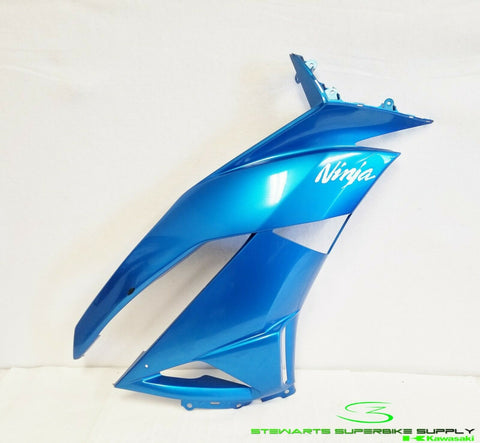 2009 - 2012 KAWASAKI NINJA ZX6R BLUE RIGHT SIDE FAIRING COWLING 09 10 11 12 ZX6