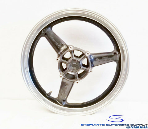 YAMAHA YZF R6 R1 OEM FRONT WHEEL TWO TONE RIM 4XV-25168-01-33 STRAIGHT 98 - 02