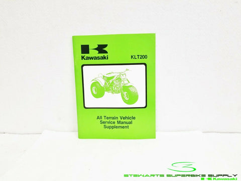1981 - 1983 KAWASAKI KLT200 OEM GENUINE SERVICE REPAIR SHOP MANUAL SUPPLEMENT 83