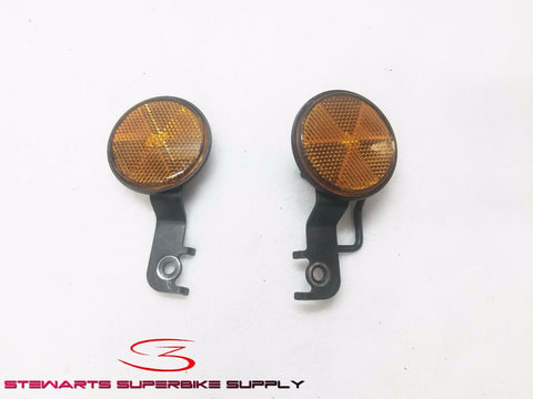 Honda CBR250R Front Fender Reflectors / Stay Set Left Right 11 12 13
