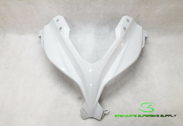 KAWASAKI OEM Cnt. Upper Front Cowling Fairing 13 - 17 EX300 White 55028-0496-25Y