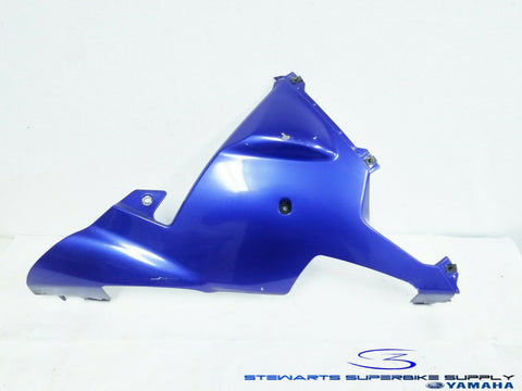 2002 - 2003 YAMAHA YZF R1 OEM BLUE RIGHT LOWER FAIRING UNDER COWL 02 03 COWLING