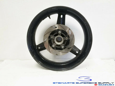SUZUKI GSXR600 GSXR750 SV1000 BLACK REAR WHEEL RIM ROTOR 00 01 02 03 04 05 / 06