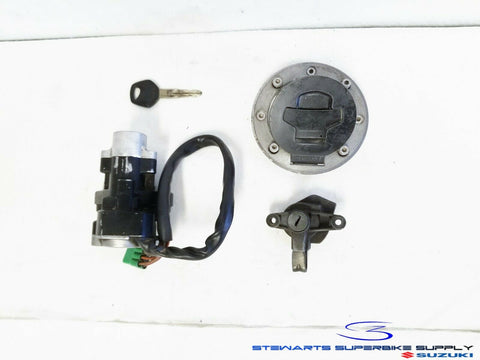 2000 - 2005 SUZUKI BANDIT 600 1200 OEM IGNITION SWITCH KEY LOCK SET GAS CAP GSF