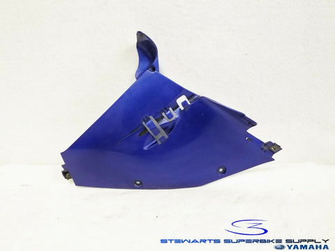 1997 - 2007 YAMAHA YZF600R OEM BLUE LEFT LOWER UNDER FAIRING COWL BELLY PANEL 1