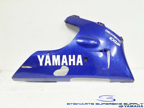 1998 - 1999 YAMAHA YZF R1 OEM BLUE RIGHT LOWER FAIRING UNDER COWL 98 99 COWLING
