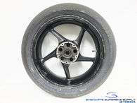 2004 - 2014 YAMAHA YZF R1 OEM BLACK REAR WHEEL KR451 200 DUNLOP TIRE RACE TRACK
