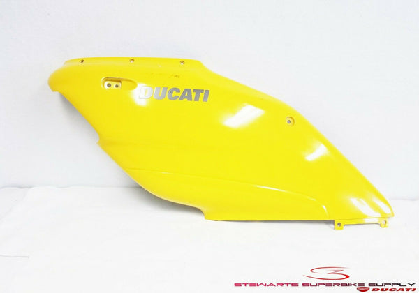 1999 DUCATI 900 SUPERSPORT YELLOW LEFT SIDE FAIRING MID COWL 900SS AIR MANIFOLD