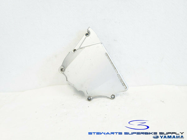 1999 - 2002 YAMAHA YZF R6 OEM SILVER LEFT CRANKCASE ENGINE FRONT SPROCKET COVER