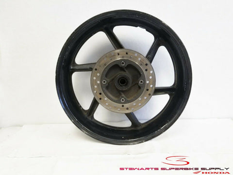1995 - 1998 HONDA CBR600F3 OEM BLACK REAR WHEEL RIM ROTOR CBR 600 F3 95 96 97 98
