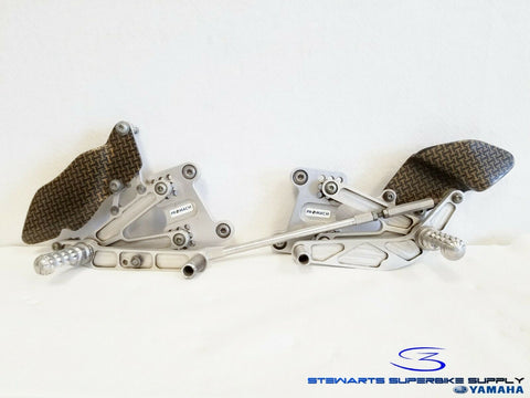 98 - 01 YAMAHA YZF R1 PROMACH ADJUSTABLE REARSETS 6065 BILLET ADJUSTABLE UK RACE