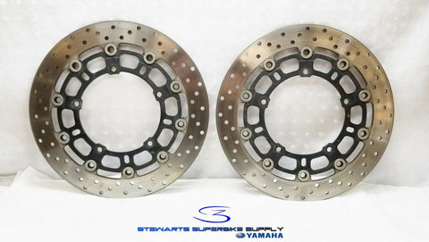 06 - 07 YAMAHA YZF R6 OEM FRONT BRAKE ROTORS SET R6R 2C0-2581T-00-00 LEFT RIGHT