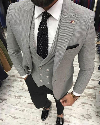 Houndstooth Jacket and Waistcoat