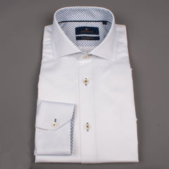 White Cutaway Collar Shirt